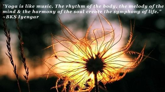 yoga music flower iyengar